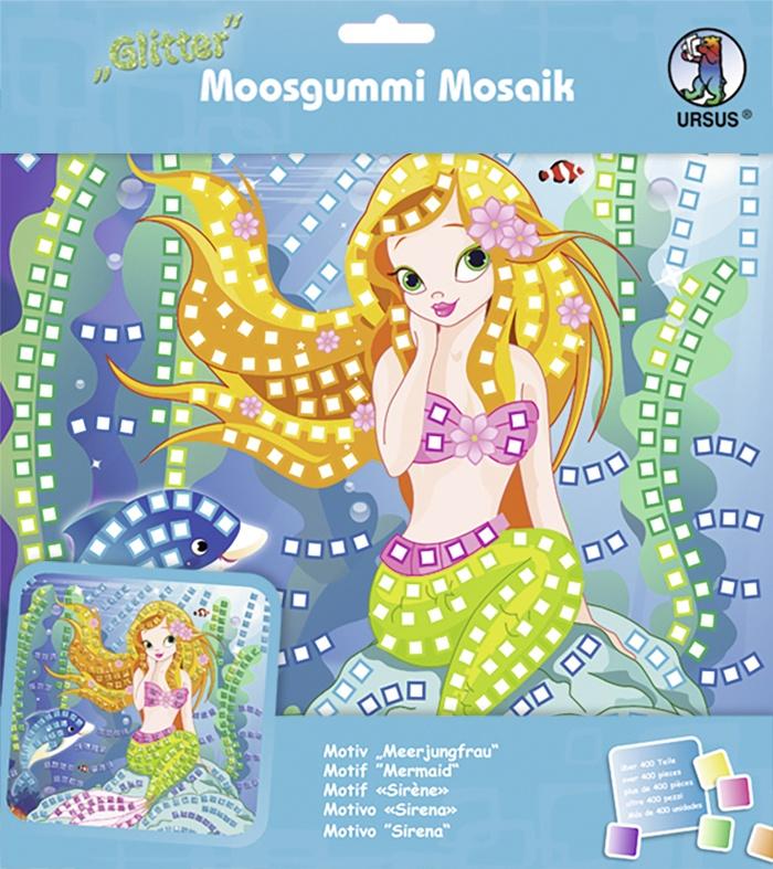 Moosgummi Mosaik Glitter Meerjungfrau