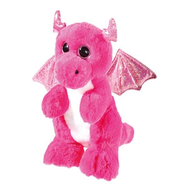 Plüschfigur Drache pink 23 cm
