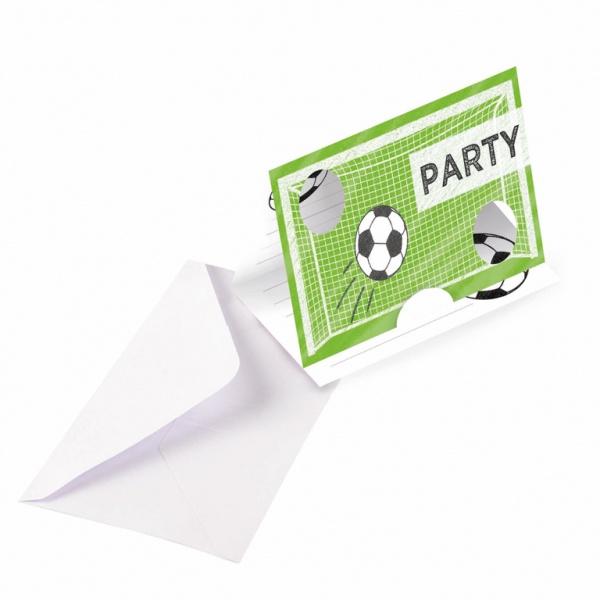 Einladungskarten Kicker Party Fussball 8 Stück