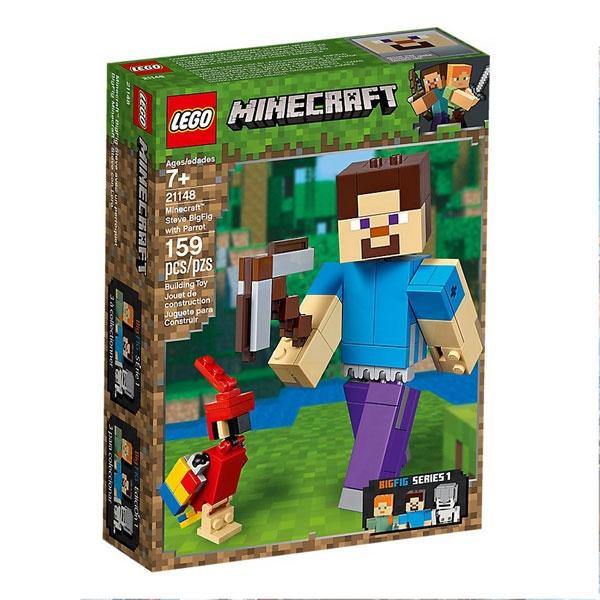 Lego Minecraft 21148 BigFig Steve mit Papagei