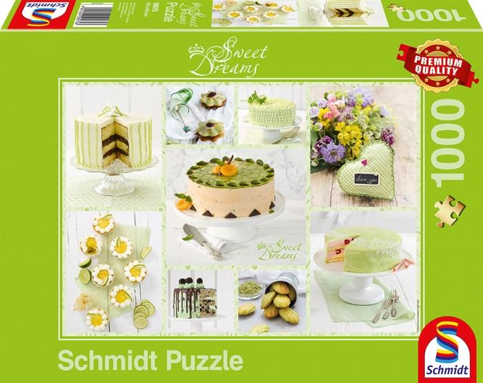 Schmidt Spiele Puzzle Frühlingsgrünes Kuchenbuffet