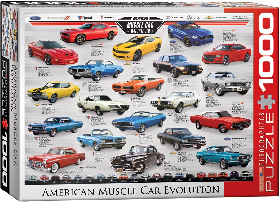 Puzzle American Muscle Car Evolution 1000 Teile
