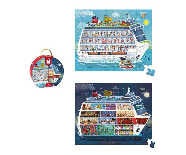 Puzzle Puzzlekoffer Kreuzfahrt Tag und Nacht von Janod