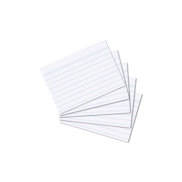 Karteikarten A8 weiß liniert 100 Stück