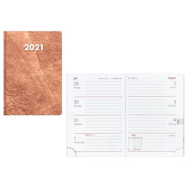 Idena Minitimer (Kalender) Flexi Metall 2021