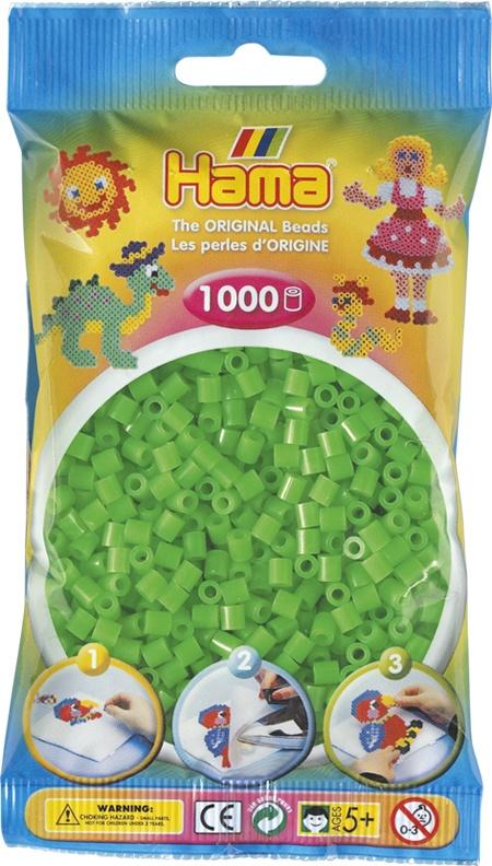 Hama Bügelperlen 1000 Stück fluor grün
