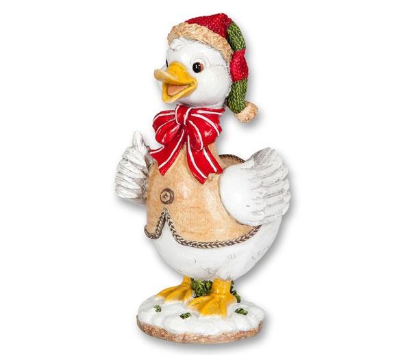 Dekofigur Weihnachtsgans 16,5 cm
