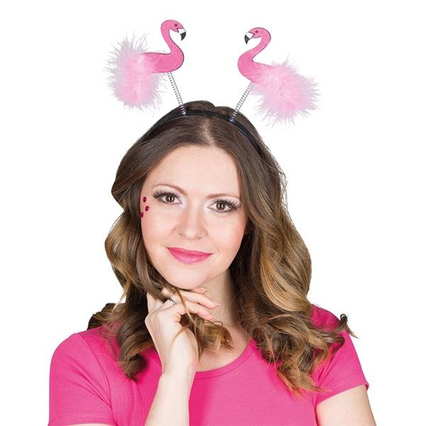 Kostüm-Zubehör Haarreif Flamingo glitter