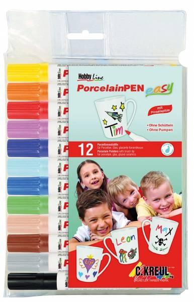 Porzellanmaler Pinselspitze 12 Stück Packung