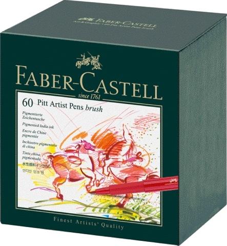 Faber Castell Tuschestift PITT ARTIST PEN 60er Atelierbox