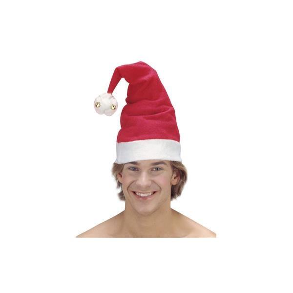Kostüm-Zubehör Weihnachtsmütze mit Glöckchen