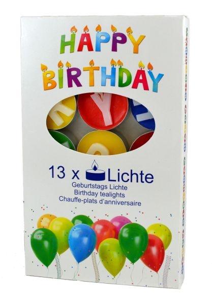Teelichter HAPPY BIRTHDAY 13 Stück