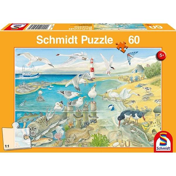 Schmidt Spiele Puzzle Tiere am Meer 60 Teile