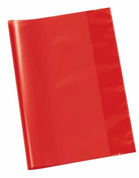 Hefthülle A4 transparent rot