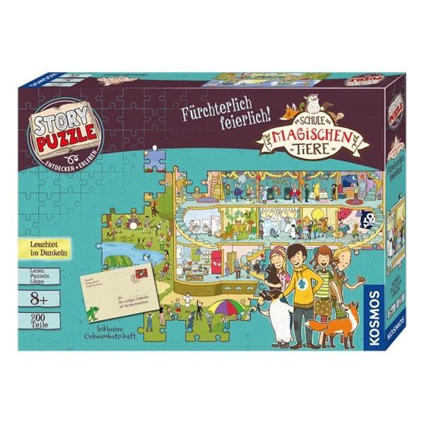 Puzzle Schule d.mag.Tiere Fürchterlich feierlich 200 Teile