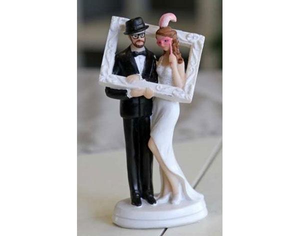 Brautpaar im Bliderrahmen 11,5 cm