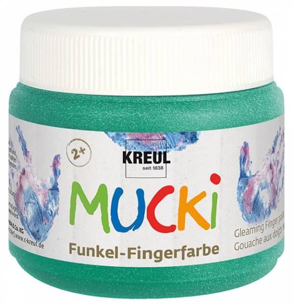 Mucki Fingerfarbe Smaragd Grün