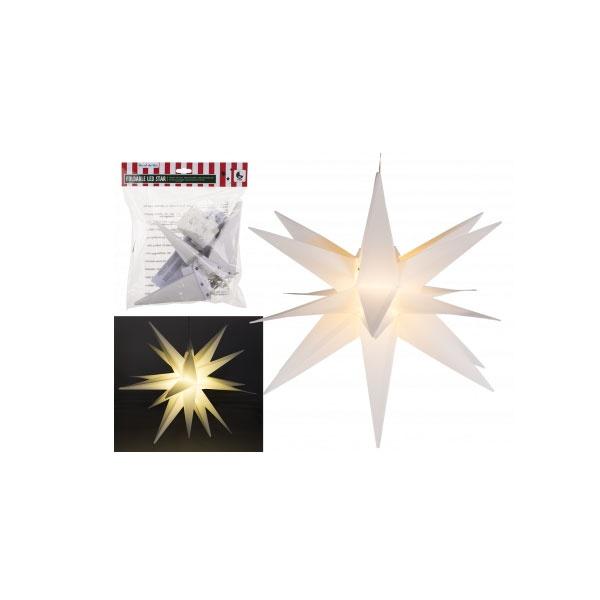 Faltbarer LED Stern weiß 35cm