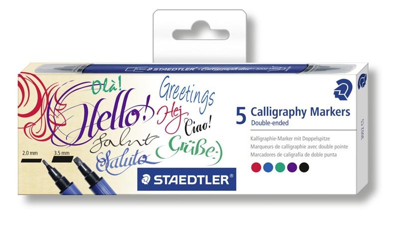 Staedtler Kalligraphie Doppelmarker 5 Stück Packung
