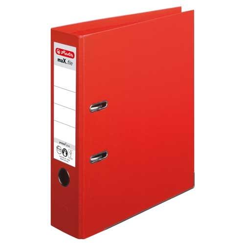 Ordner A4 max.file protect 8 cm rot von Herlitz