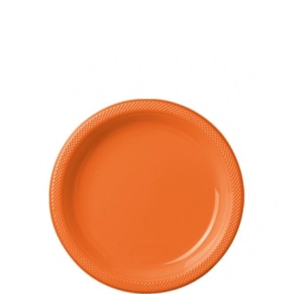 Partyteller Kunststoff 10 Stück orange