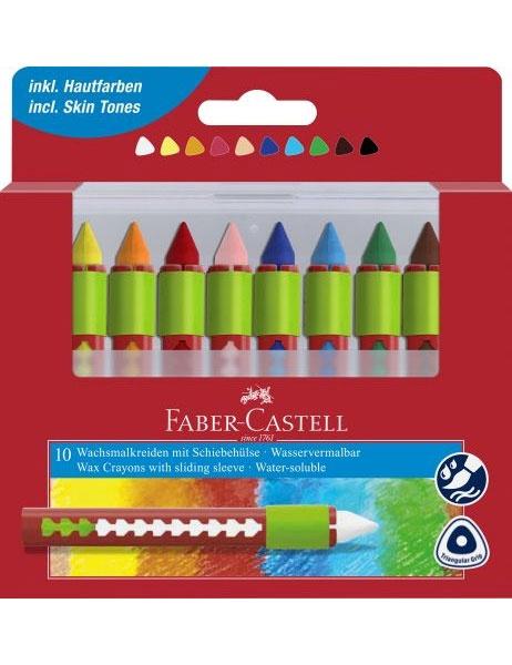Faber Castell Wachsmalkreiden 10er wasservermalbar