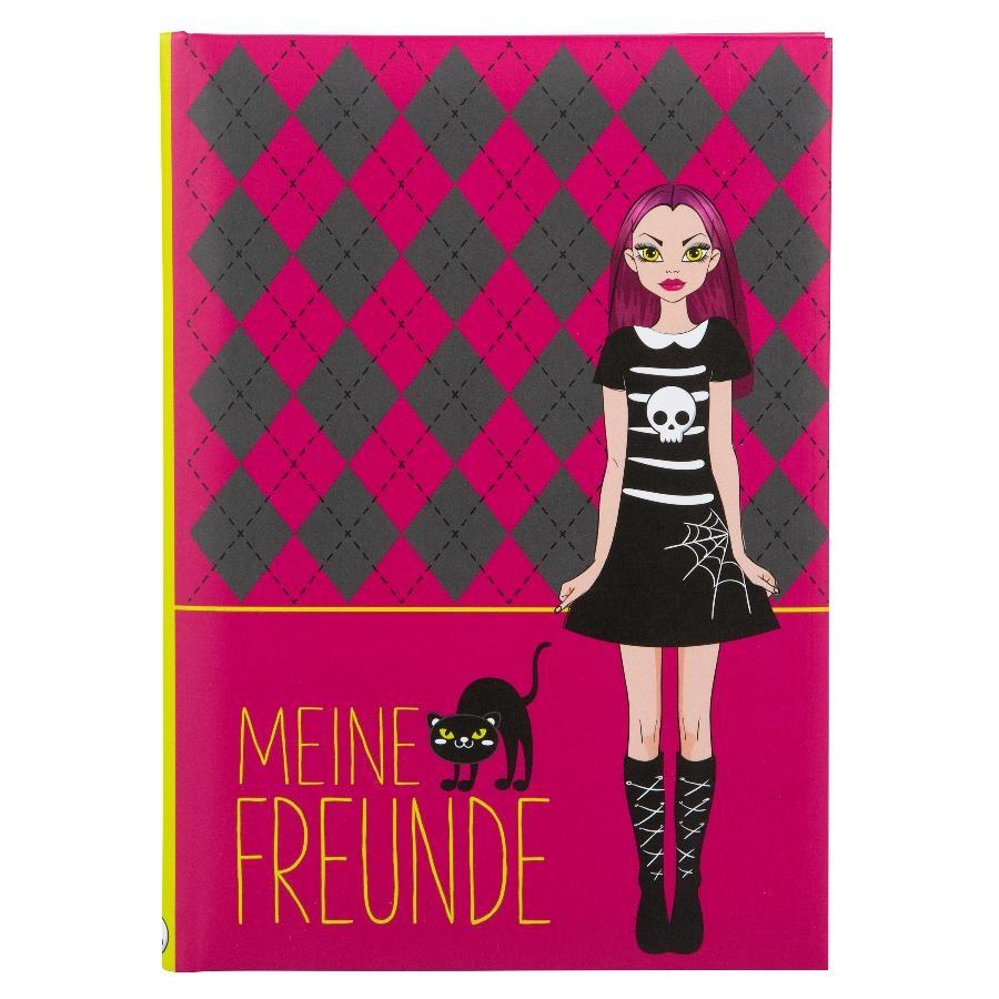 Goldbuch Freundebuch Vampire Girl