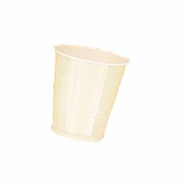 Partybecher Kunststoff 10 Stück  vanilla creme