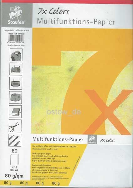 Multifunktionspapier 80g Kopierpapier weiss