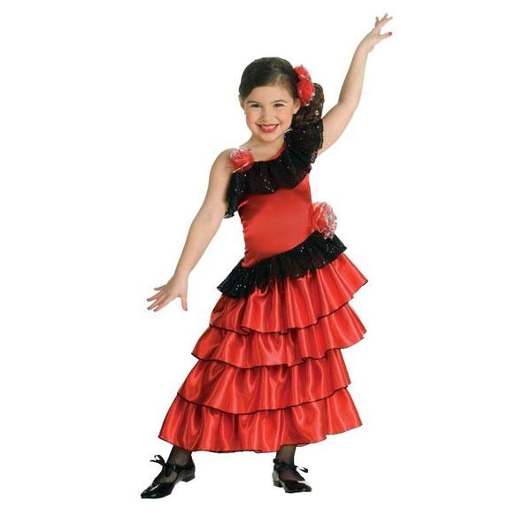 Kostüm Spanische Tänzerin 104 3-4 Jahre