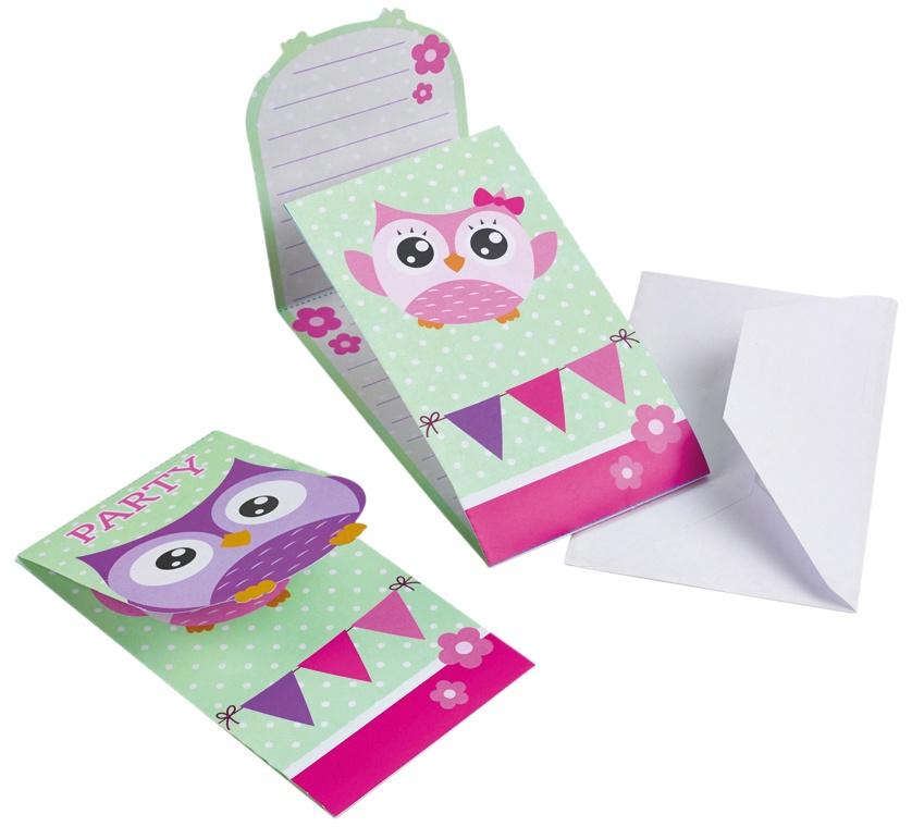 Einladungskarten Happy Owl Eule