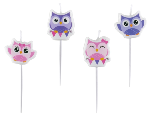 Mini-Figurenkerzen Happy Owl Eule