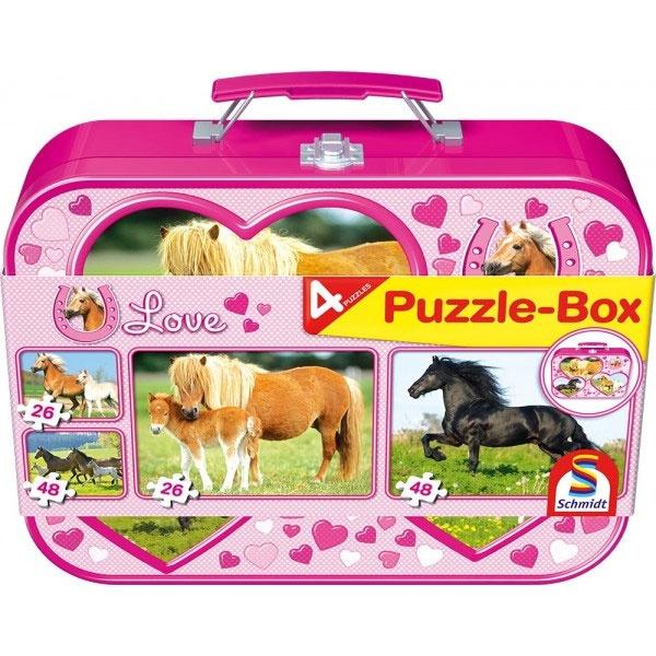 Puzzle Puzzle-Box  Pferde