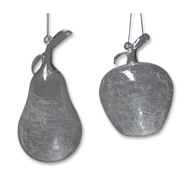 2 Weihnachtsanhänger Apfel-Birne