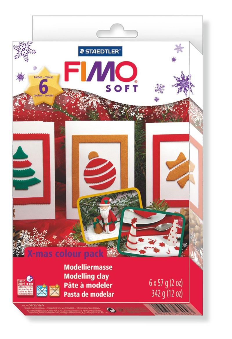 Staedtler Fimo soft Weihnachtsfarben-Set mit Motivform