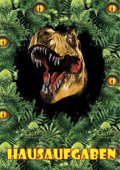Hausaufgabenheft Dino Dschungel