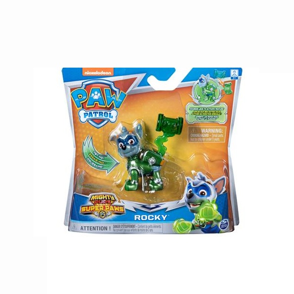 Paw Patrol Mighty Pups Rocky Action Pack
