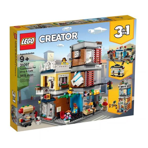 Lego Creator 31097 Stadthaus mit Zoohandlung und Cafe
