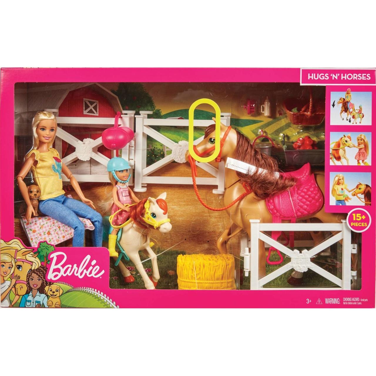 Barbie Spielset Reitspaß mit Barbie, Chelsea, Pferd FXH15