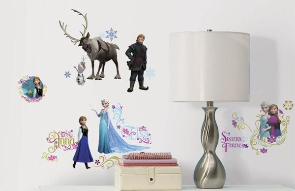 Disney Die Eiskönigin Wandtattoo Olaf Anna Elsa Sven Kristof