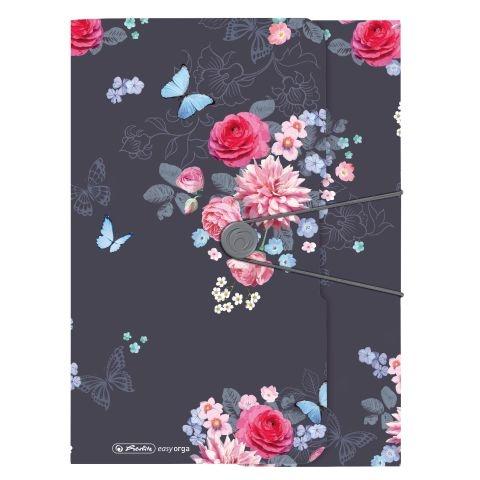 Herlitz Gummizugmappe A4 Ladylike Flowers