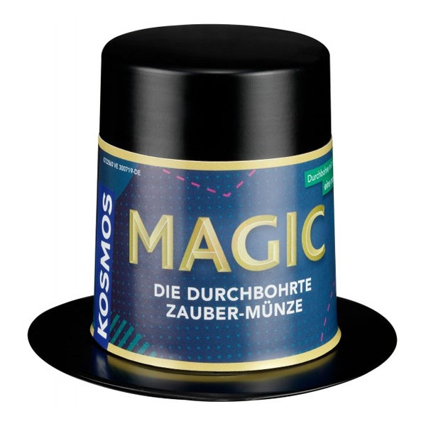 Magic Mini Zauberhut Die durchbohrte Zauber-Münze