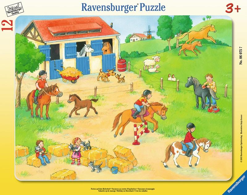 Ravensburger Puzzle Ferien auf dem Reiterhof 12 Teile