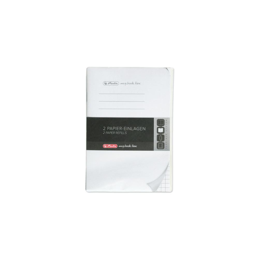 Herlitz Papiereinlagen A6 Refill flex kariert
