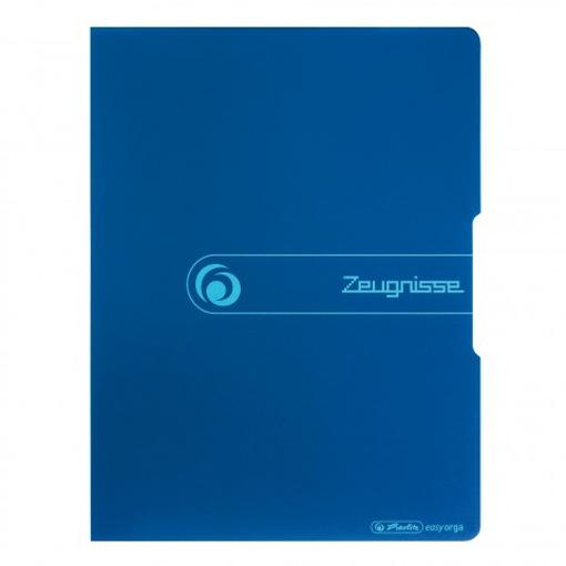 Herlitz Sichtbuch mit Aufschrift Zeugnisse A4 blau