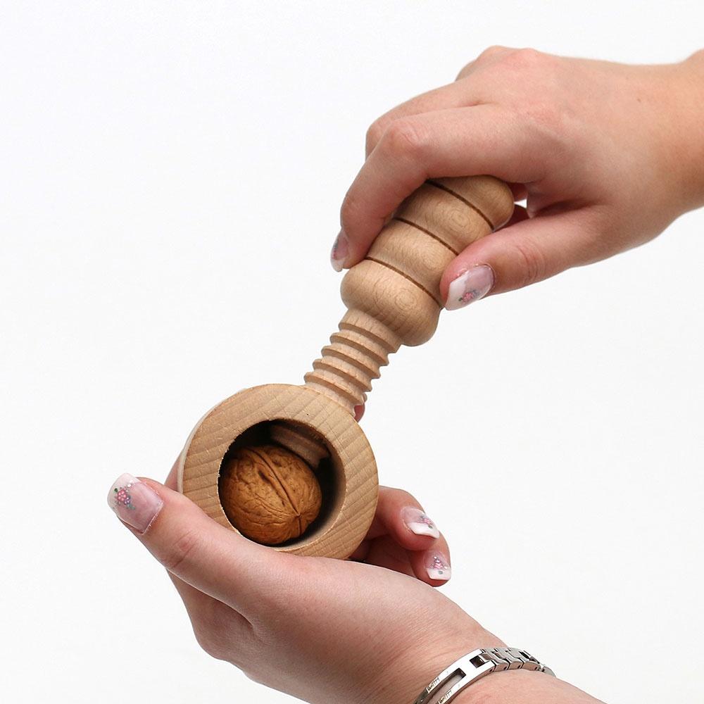 Nussknacker aus Holz zum Schrauben Handarbeit
