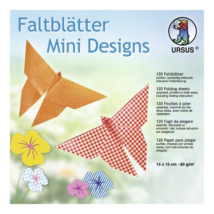 Faltblätter Mini Designs 15 x 15 cm