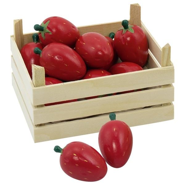 Erdbeeren in Obstkiste