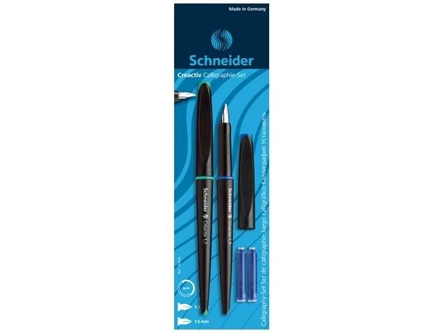 Schneider Calligraphie Füllhalter Set 1,1/1,5mm/Blister