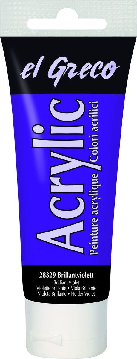 El greco Acrylic Acrylfarbe Brilliantviolett 75ml